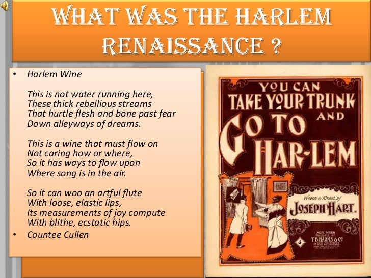 the success of the harlem renaissance in music Find 26 facts about the harlem renaissance for kids the history of the 1920's harlem renaissance, the events, quotes, people and jazz music interesting facts about the harlem renaissance for kids, children, homework and schools.