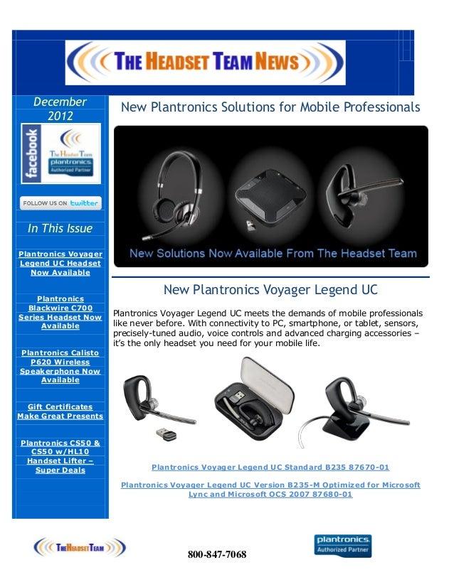 The Headset Team News 12/01/2012