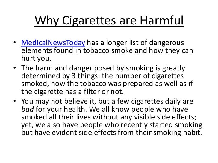 essay about the harmful effects of smoking
