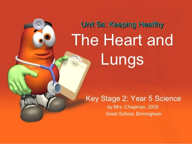 Unit 5a: Keeping HealthyThe Heart and   Lungs  Key Stage 2: Year 5 Science        by Mrs. Chapman, 2005        Greet Schoo...