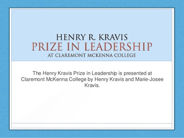 The Henry Kravis Prize in Leadership