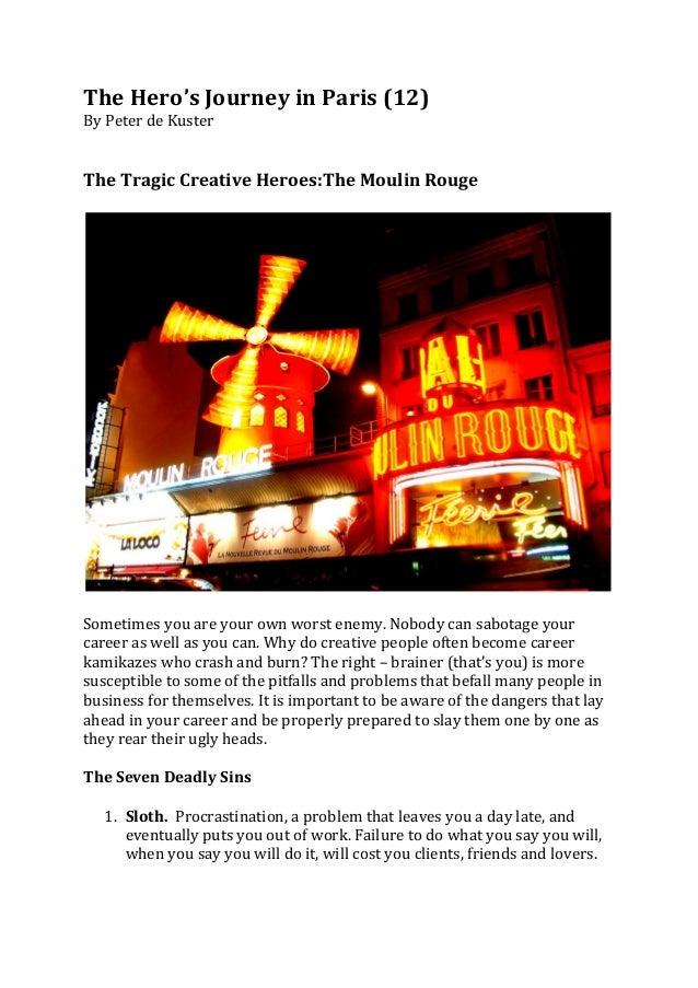 The Hero's Journey in Paris (12) By Peter de Kuster    The Tragic Creative Heroes:The Mo...