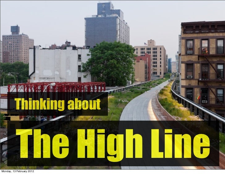 Thinking about the High Line