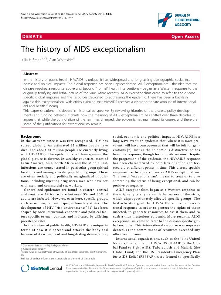 The history of aids exceptionalism 1758 2652-13-47