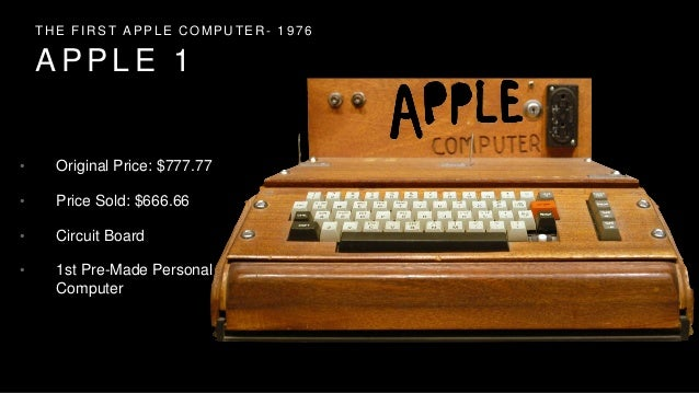 Apple First Computer Price The First Apple Computer 1976
