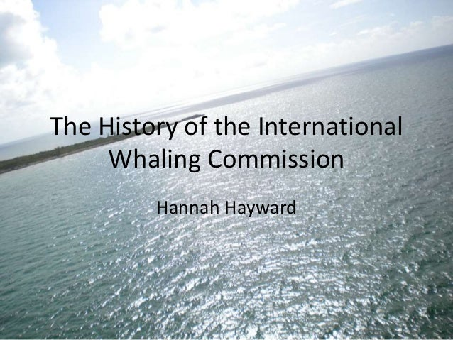 The history of the international whaling commission