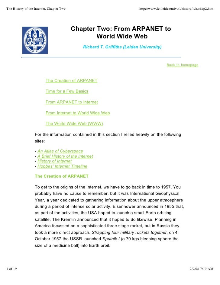 The History of the Internet, Chapter Two                                   http://www.let.leidenuniv.nl/history/ivh/chap2....