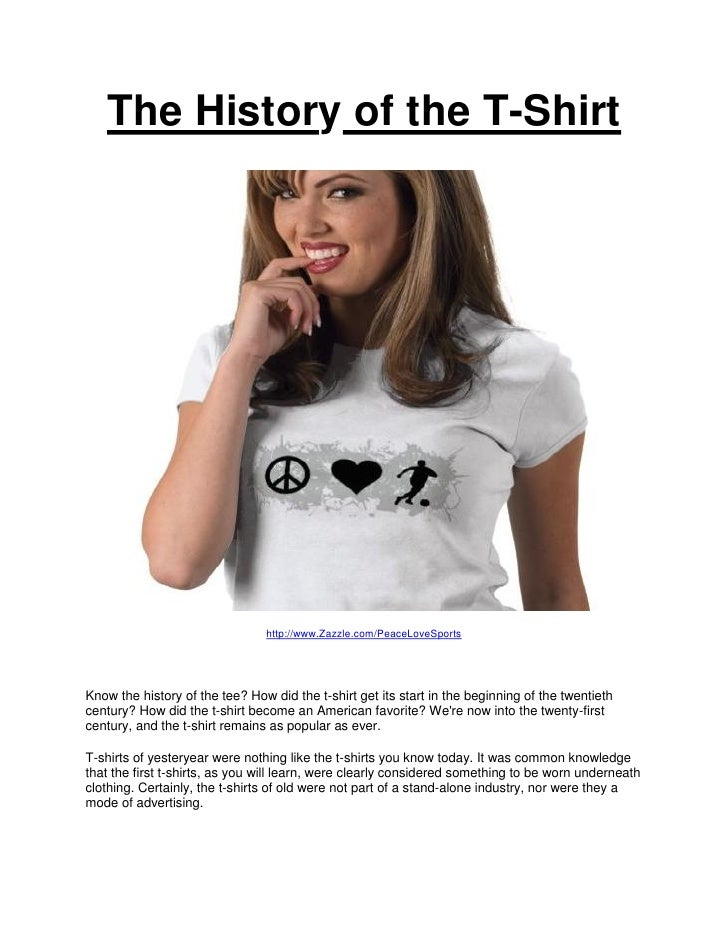 The History of the Tshirt