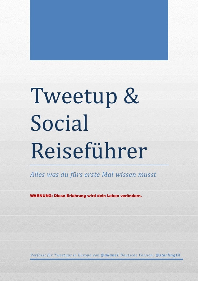 The Hitchhikers Guide to Tweetups 1.0 (DE)