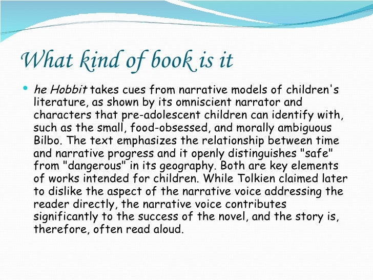 outline of the hobbit essay Outline i christian symbolism has always been a way for a writer to express his religious belief in his writings a catholicism was very influential in tolkien's time period and in writing the hobbit brought many of his biblical perspectives to light.