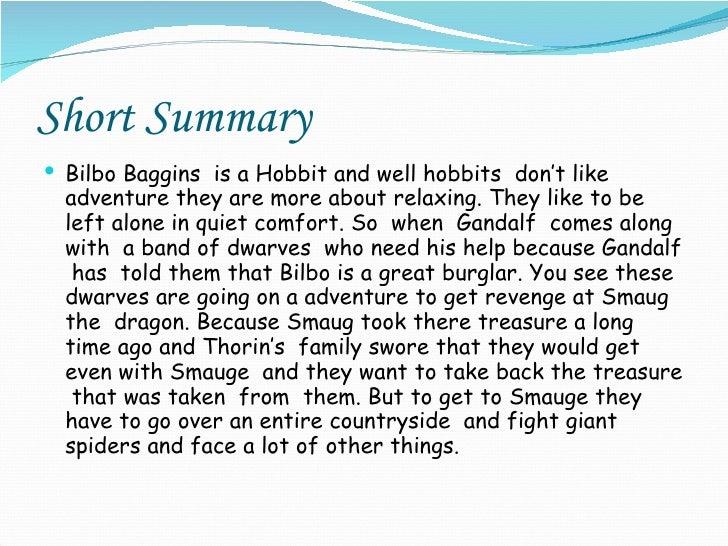 The hobbit book report help