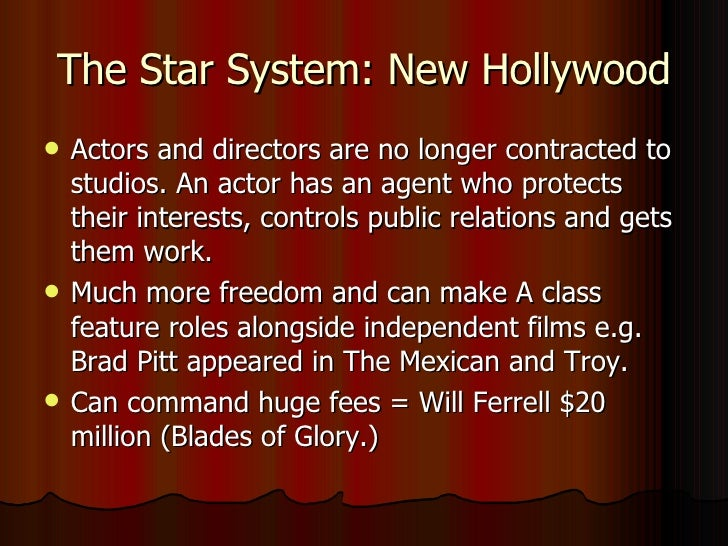 hollywood studio system Gomery's new volume, the hollywood studio system: a history reconfirms his standing it is a thorough rewriting, expansion, and updating of gomery's 1986 tome, the hollywood studio system, which focused only on the period 1930 to 1949.