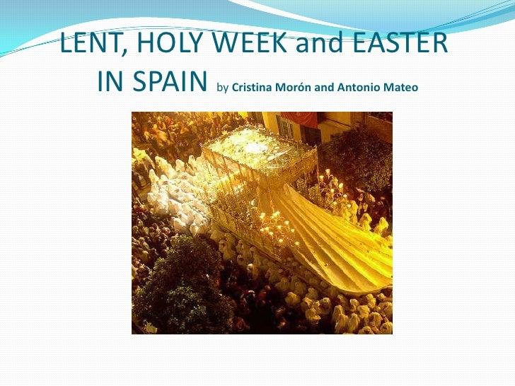 The holy week in spain