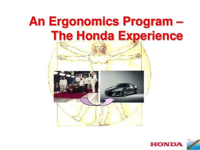 An Ergonomics Program – The Honda Experience