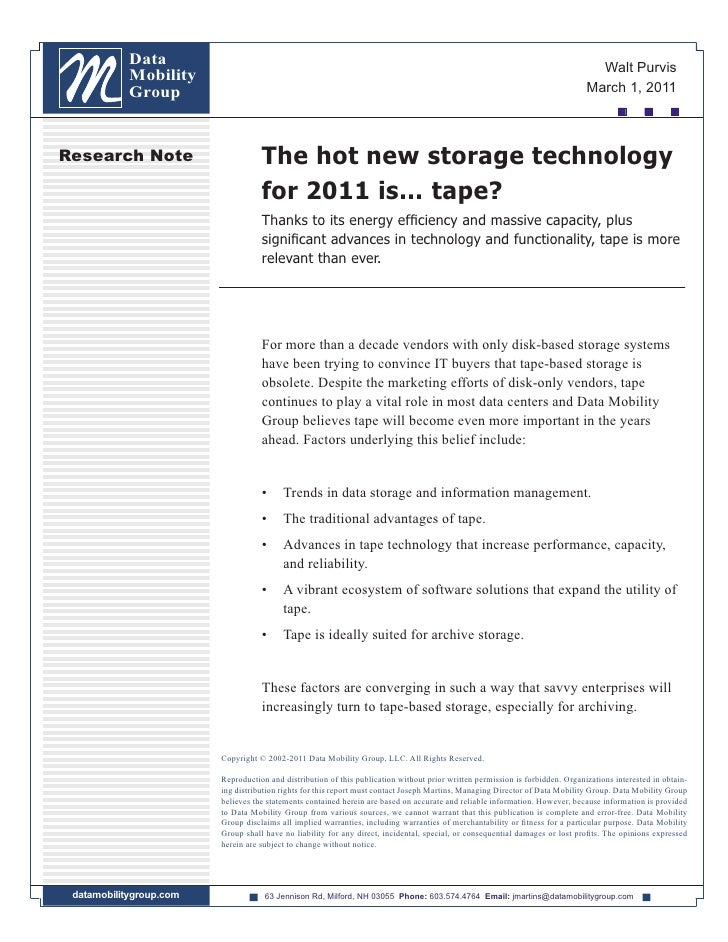 The hot new storage technology for 2011 is... tape