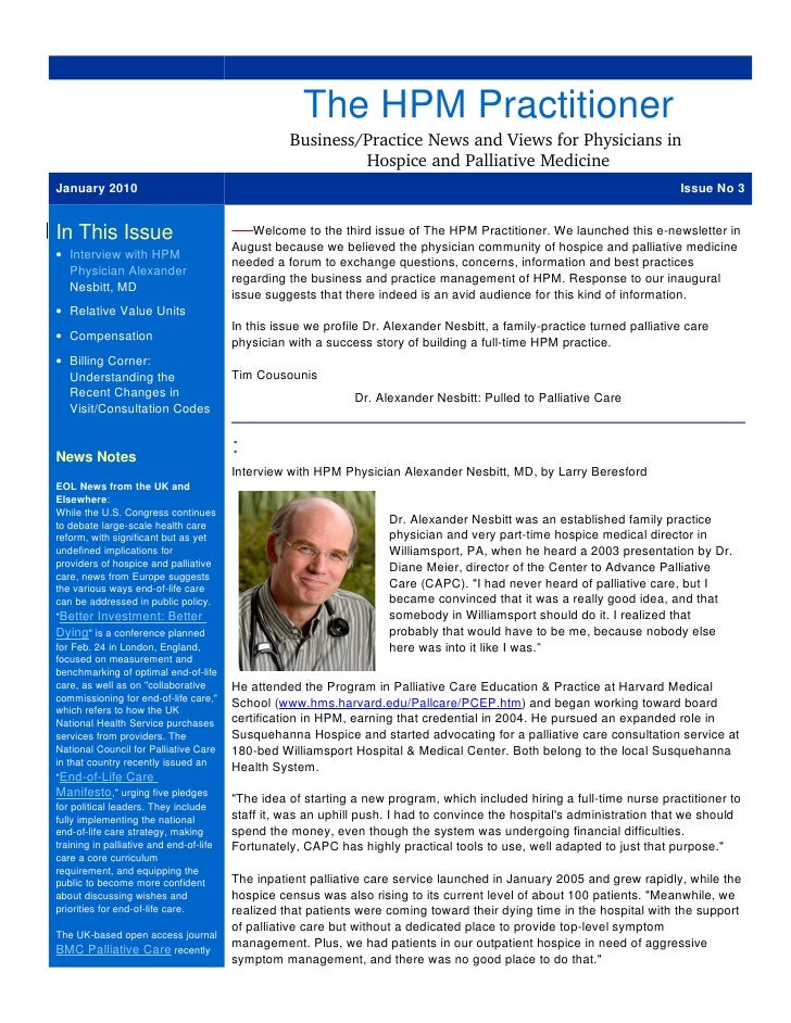 The HPM Practitioner                                                     Business/Practice News and Views for Physicians i...