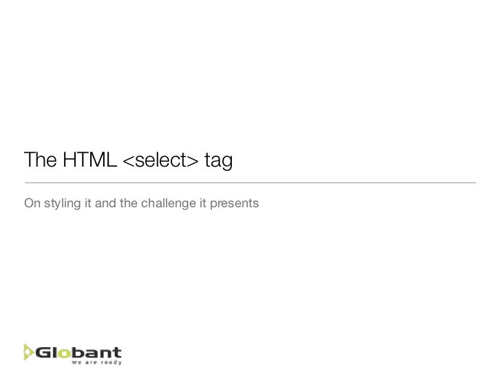 The HTML select tag styling challenge