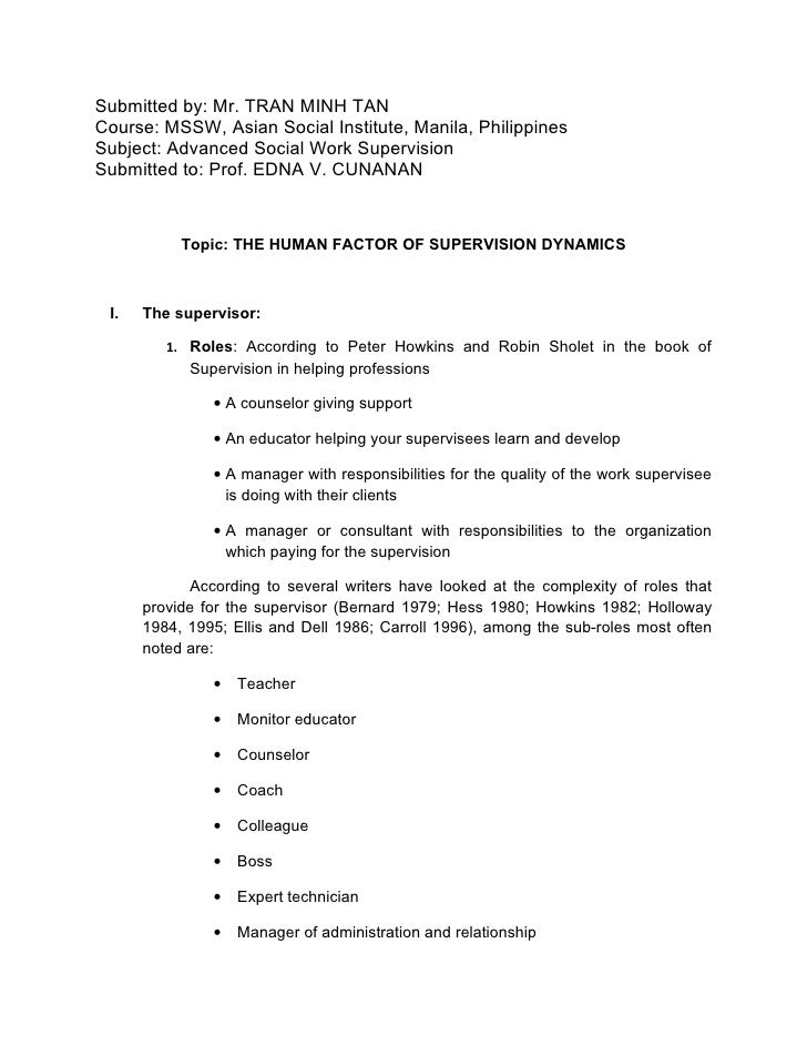 Submitted by: Mr. TRAN MINH TAN Course: MSSW, Asian Social Institute, Manila, Philippines Subject: Advanced Social Work Su...