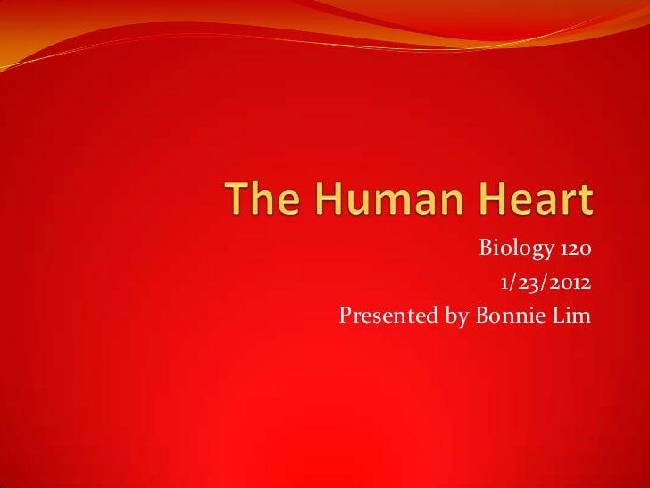 Biology 120               1/23/2012Presented by Bonnie Lim
