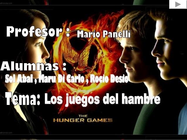 Los juegos del hambre(eninglés:The Hunger Games)esunanoveladelgénerodistópicoyCienciaficciónadulto-juveniles...