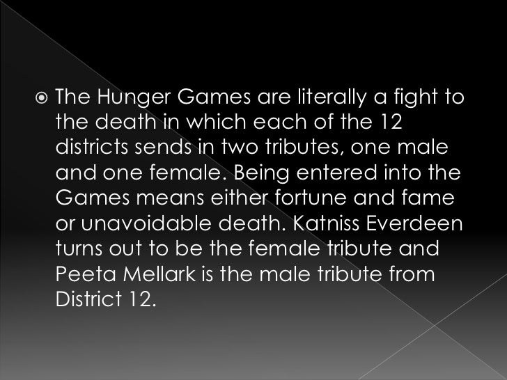 the hunger games essay summary Hunger games essay the hunger games by suzanne collins book summary the hunger games begins on the day of the reaping in district 12 katniss everdeen, the story's 16-year-old narrator, sets out to meet her friend gale so they can do some hunting and gathering before the reaping that afternoon.