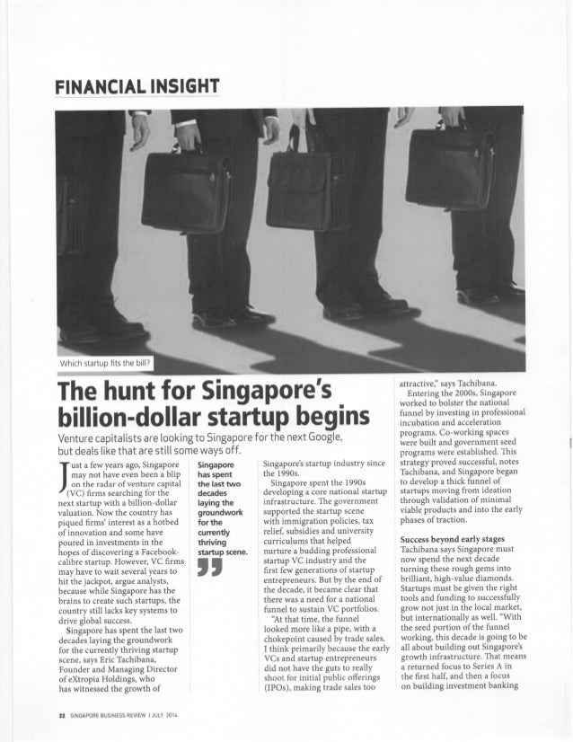 The Hunt for Singapore's Billion Dollar Start-up
