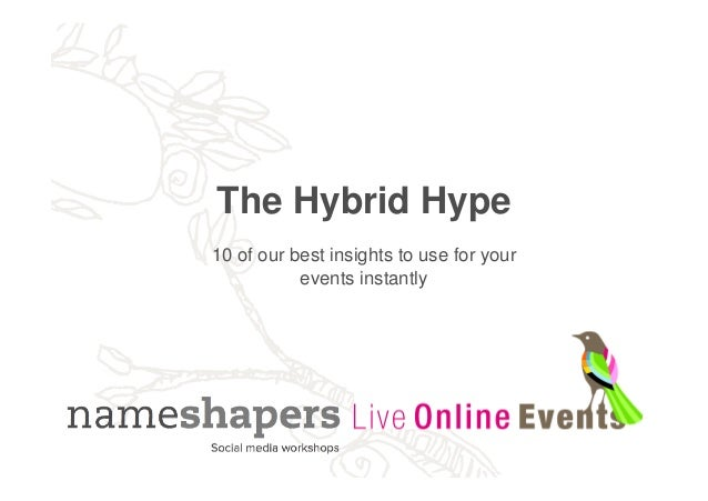 The Hybrid Hype - 10 of our best insights to use for your events instantly