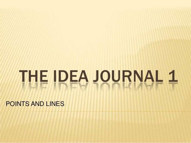 The idea journal 1
