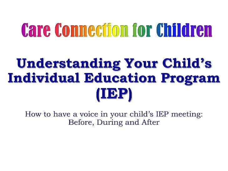 The IEP Process for Parents