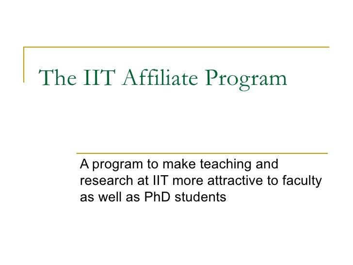 The IIT Affiliate Program