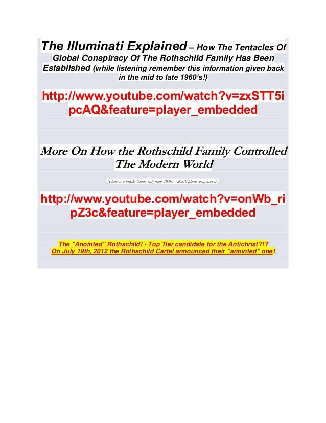 The illuminati explained rothschild family