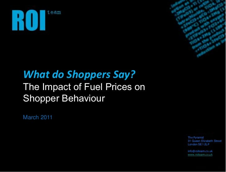 The impact of fuel prices on shopping behaviour