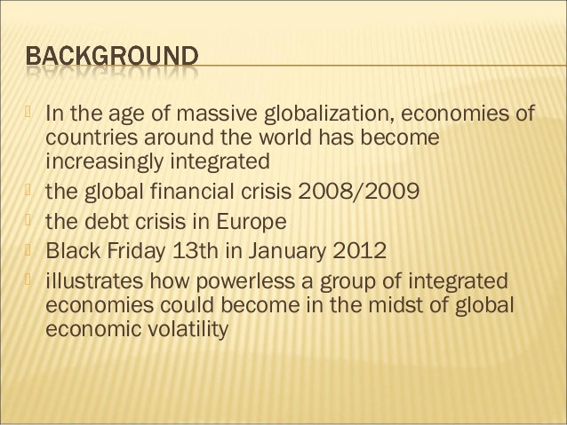impact of globalization on the financial Globalization is sometimes perceived as a cause of a phenomenon called the  race to the bottom that implies that multinational companies are constantly attempting to maintain or increase their influence in countries that are already reliant on foreign investment alone multinationals tend to target export dependent.