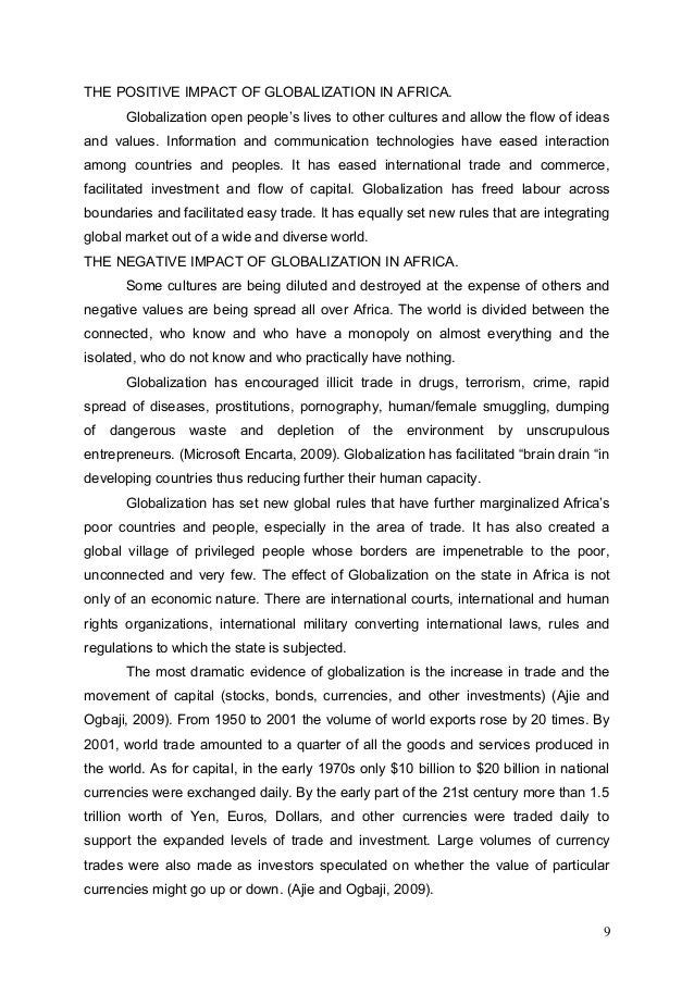 short essay on globalisation in india