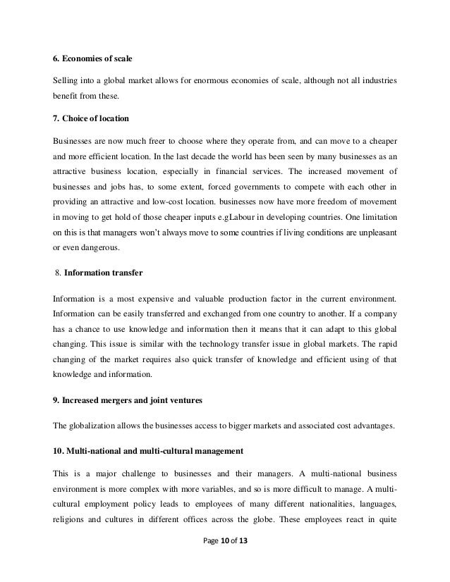 Challenges In The Global Business Environment Essay Sample
