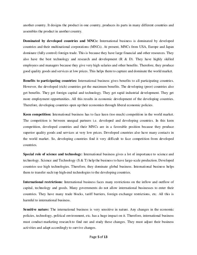the impact of globalisation on multinational The impact of multinational corporations (mncs) on developing countries 992 words | 4 pages instances, the decision to expand a firm's operations in.