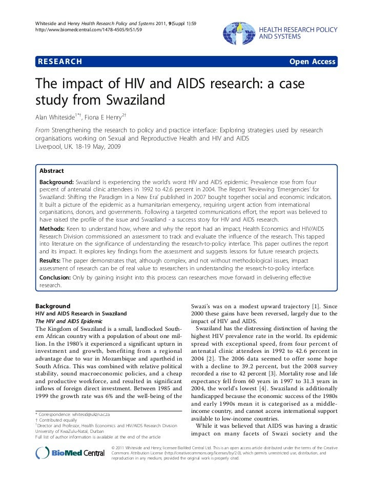 Whiteside and Henry Health Research Policy and Systems 2011, 9(Suppl 1):S9http://www.biomedcentral.com/1478-4505/9/S1/S9 R...