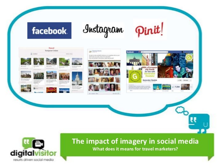 The impact of imagery in social media digital visitor
