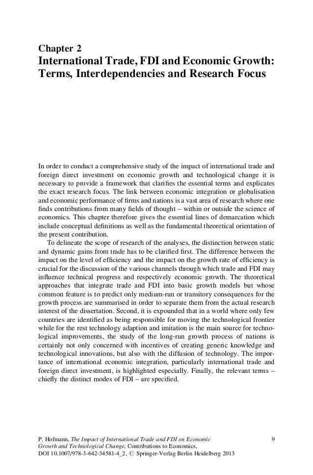 Chapter 2International Trade, FDI and Economic Growth:Terms, Interdependencies and Research FocusIn order to conduct a com...