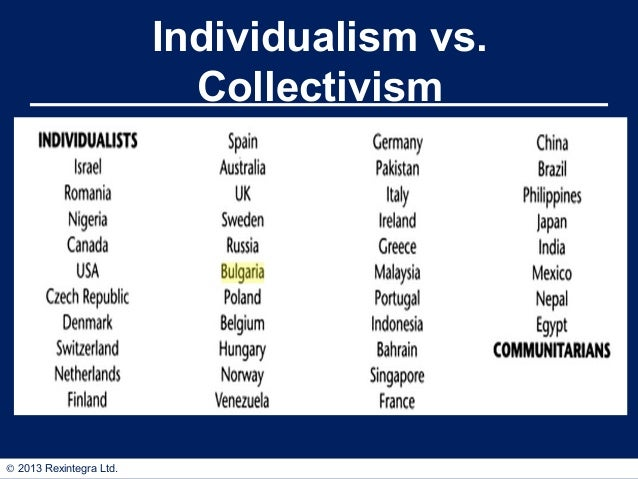 essay individualism vs collectivism Essays term papers research papers book reports individualism versus collectivism is one of the basic differences that have been described in varying national.
