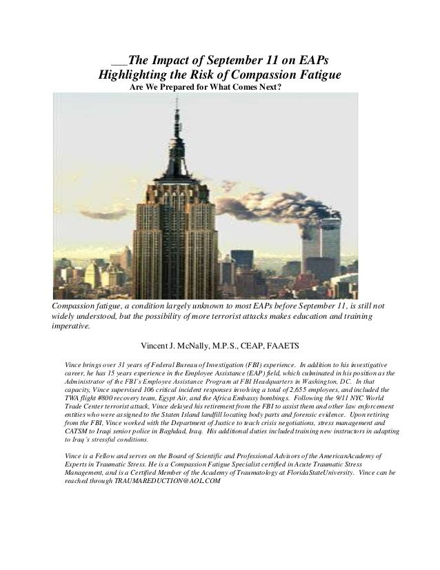 The impact of september 11 on EAPs