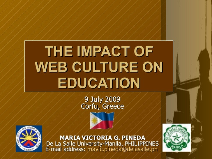 The impact of the web culture on education