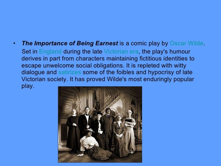 the importance of being earnest summary The importance of being earnest opened in the west end of london in february 1894 during an era when many of the play summary about the importance of being.