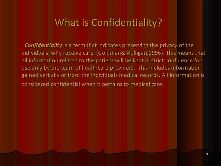 define confidential