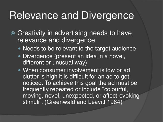 importance of creativity in advertising Stress the importance of creativity ensure all your staff know that you want to  hear their ideas unless they understand how innovating your business  processes.