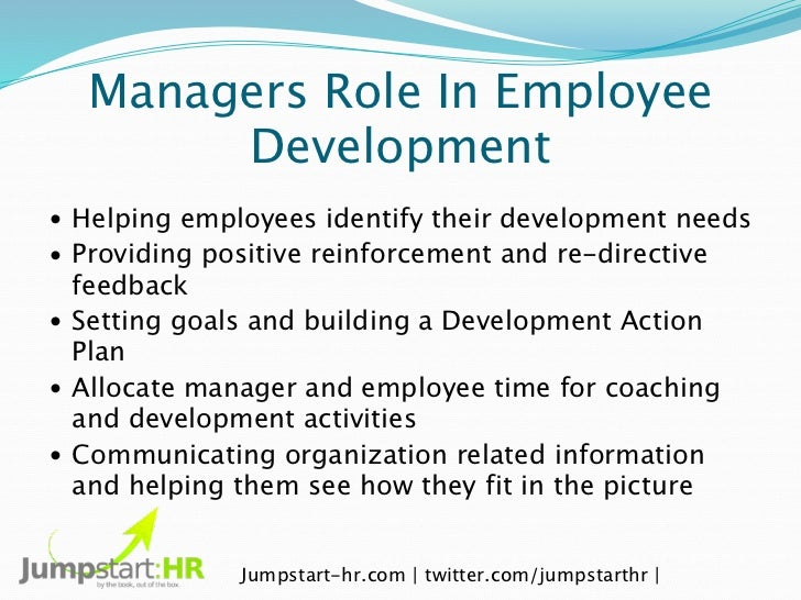 work role of employees managers and