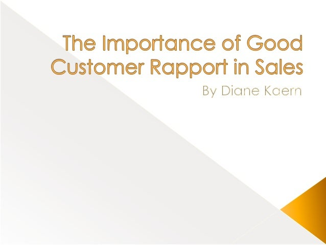 how to build good rapport with customers