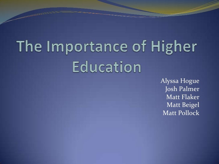 An Essay On Importance Of Education
