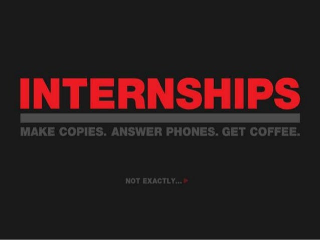 What's the Point?Internships… So What's the Point?