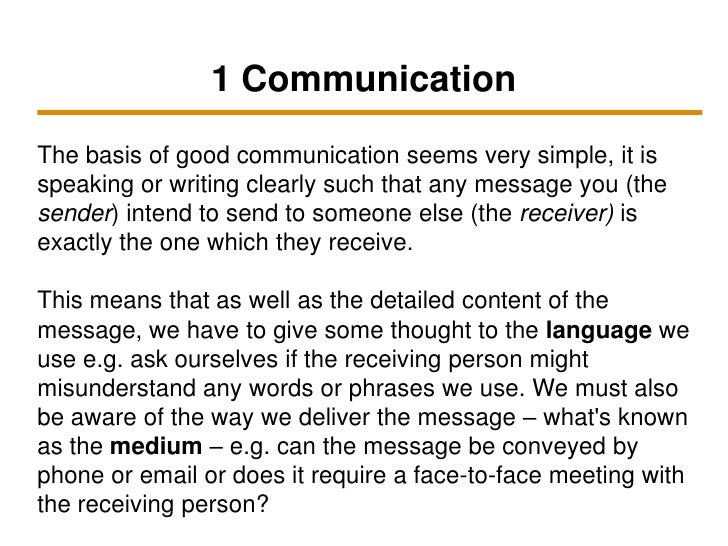 Interpersonal communication in business essay